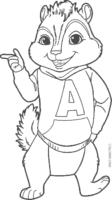 Alvin apontando