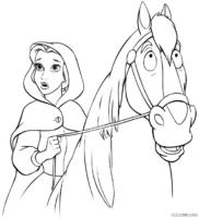 Bela e seu cavalo Phillipe