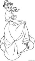 Bela exibindo seu lindo vestido