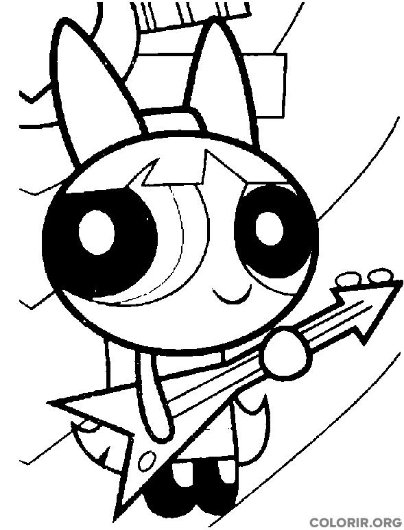 Florzinha tocando guitarra