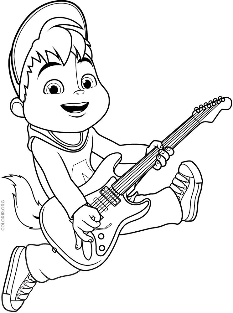 Menino tocando guitarra