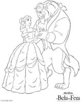 Olhar apaixonado de Bela e a Fera