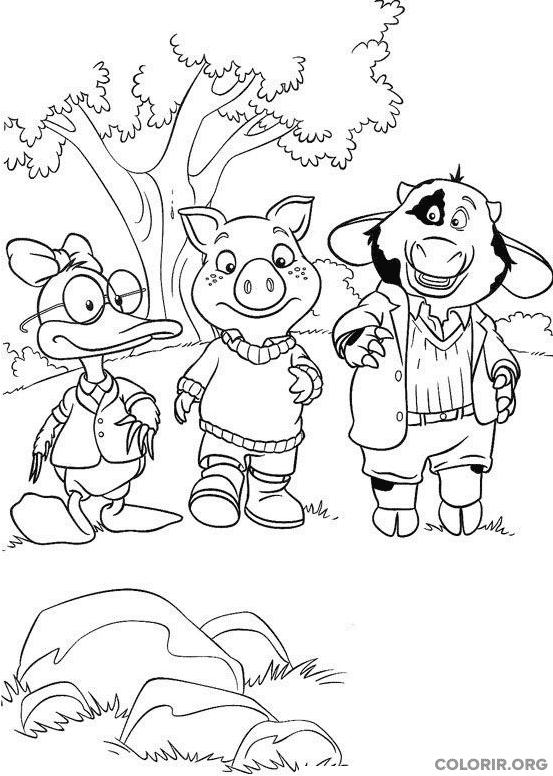 Os amigos Piggley, Dannan e Fernandes