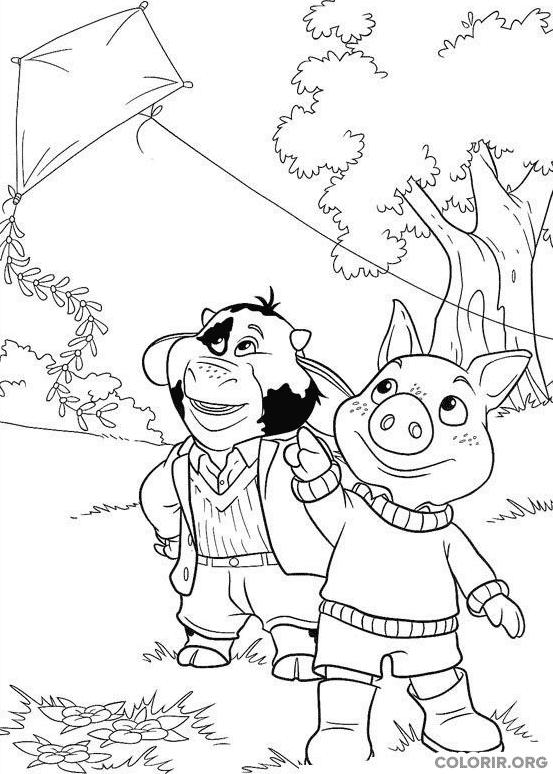 Piggley e Fernandes soltando pipa