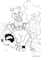 Piggley e Fernandes brincando