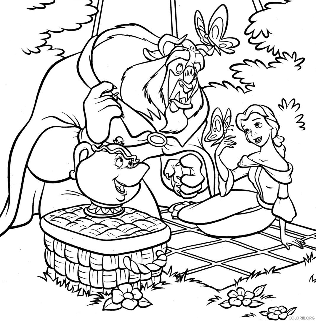 Piquenique divertido da Bela e a Fera