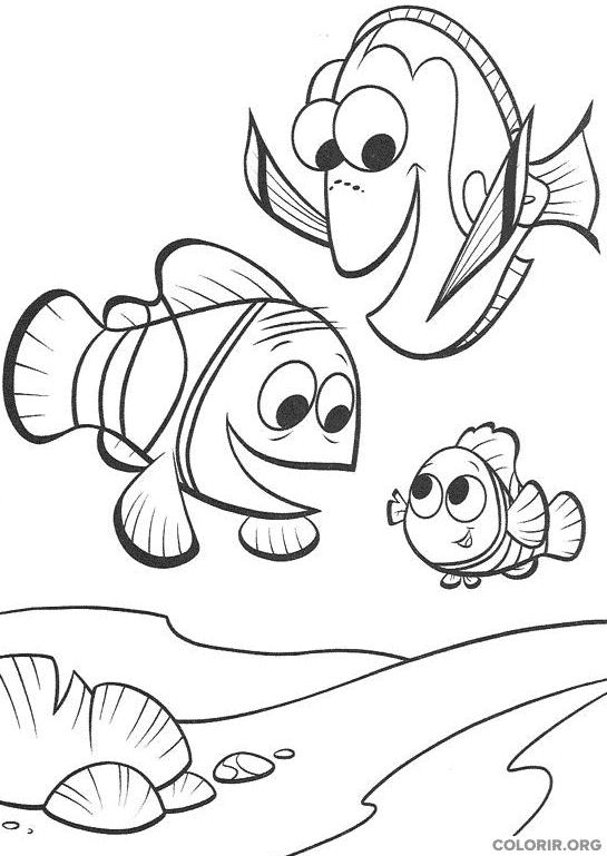 Desenho de Procurando Nemo (2)