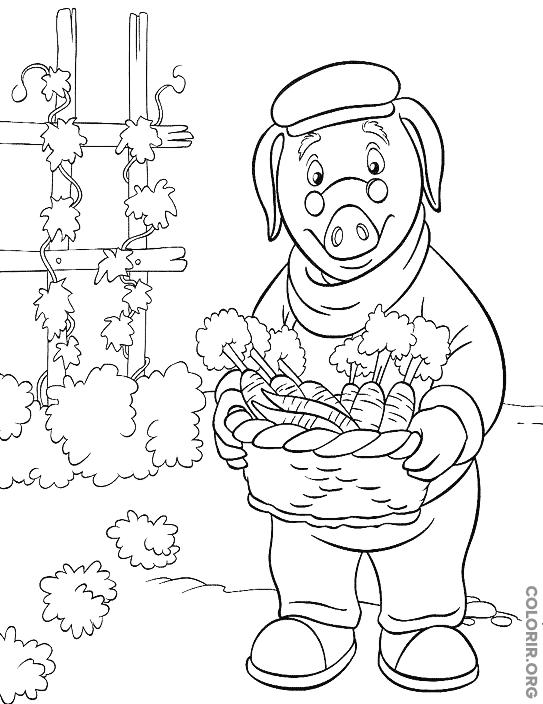 Senhor Piggley para colorir