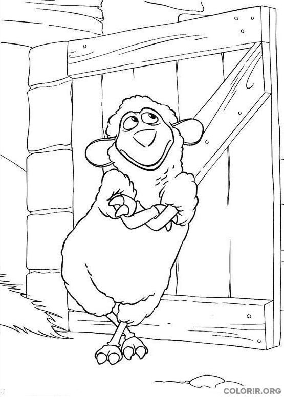 Wiley escorando na porta da fazenda