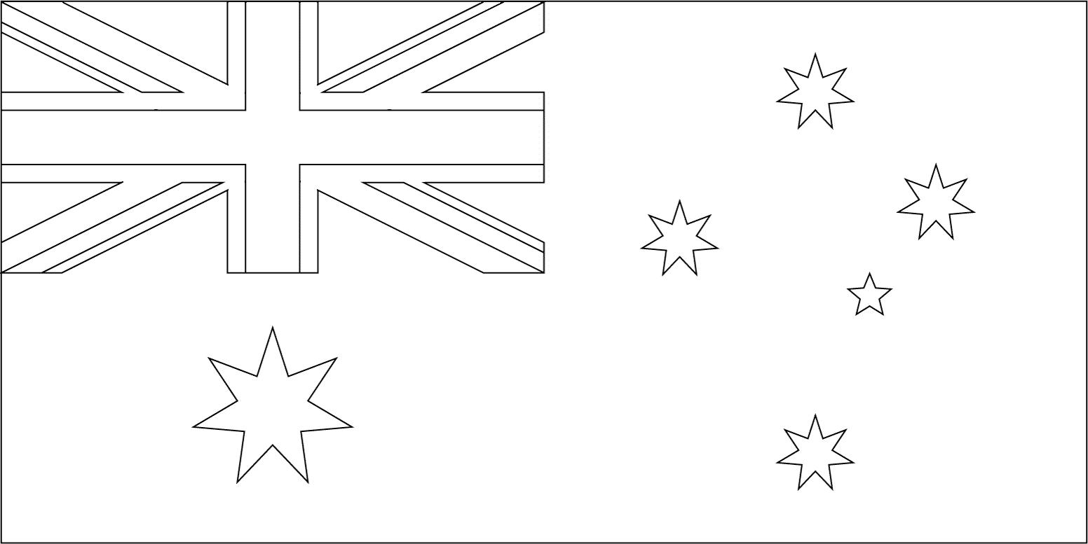 Bandeira da Austrália para colorir