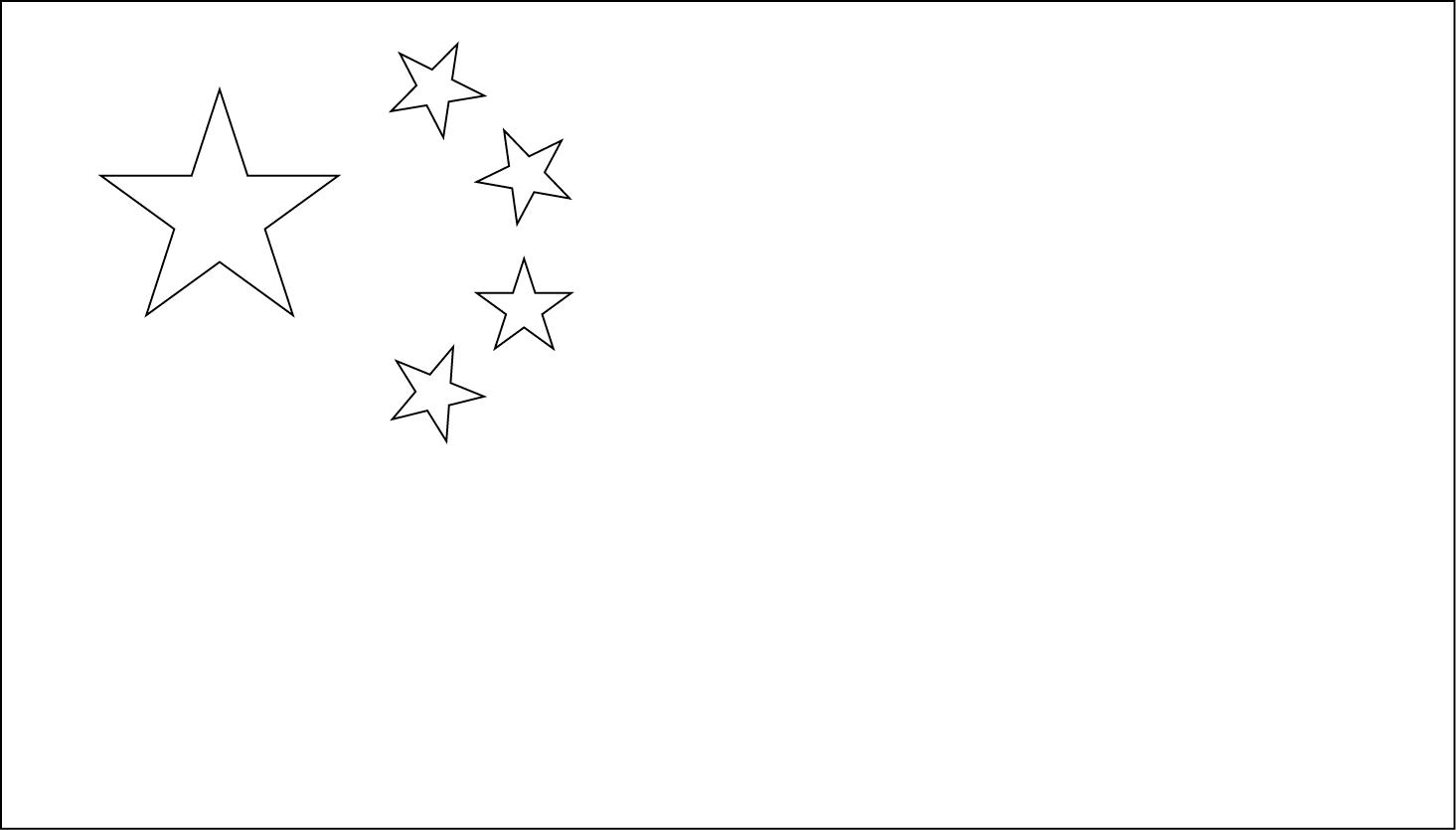 Bandeira da China para colorir