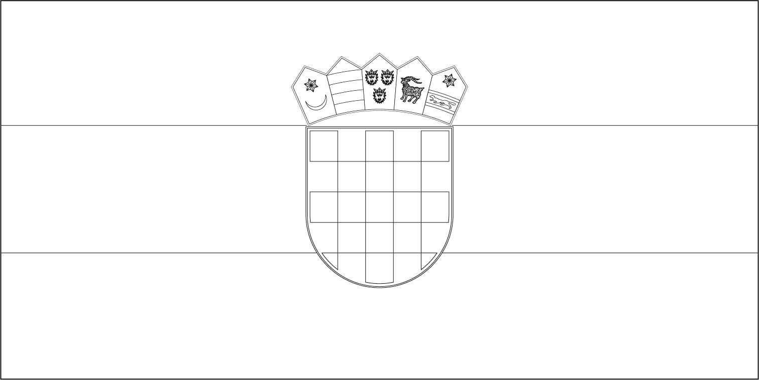 Bandeira da Croácia para colorir
