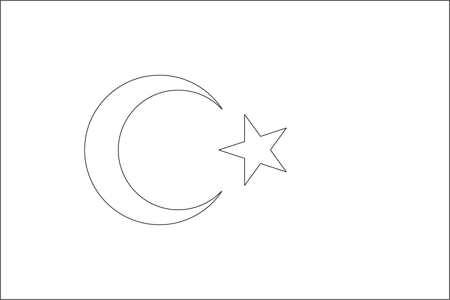 Bandeira da Turquia para colorir