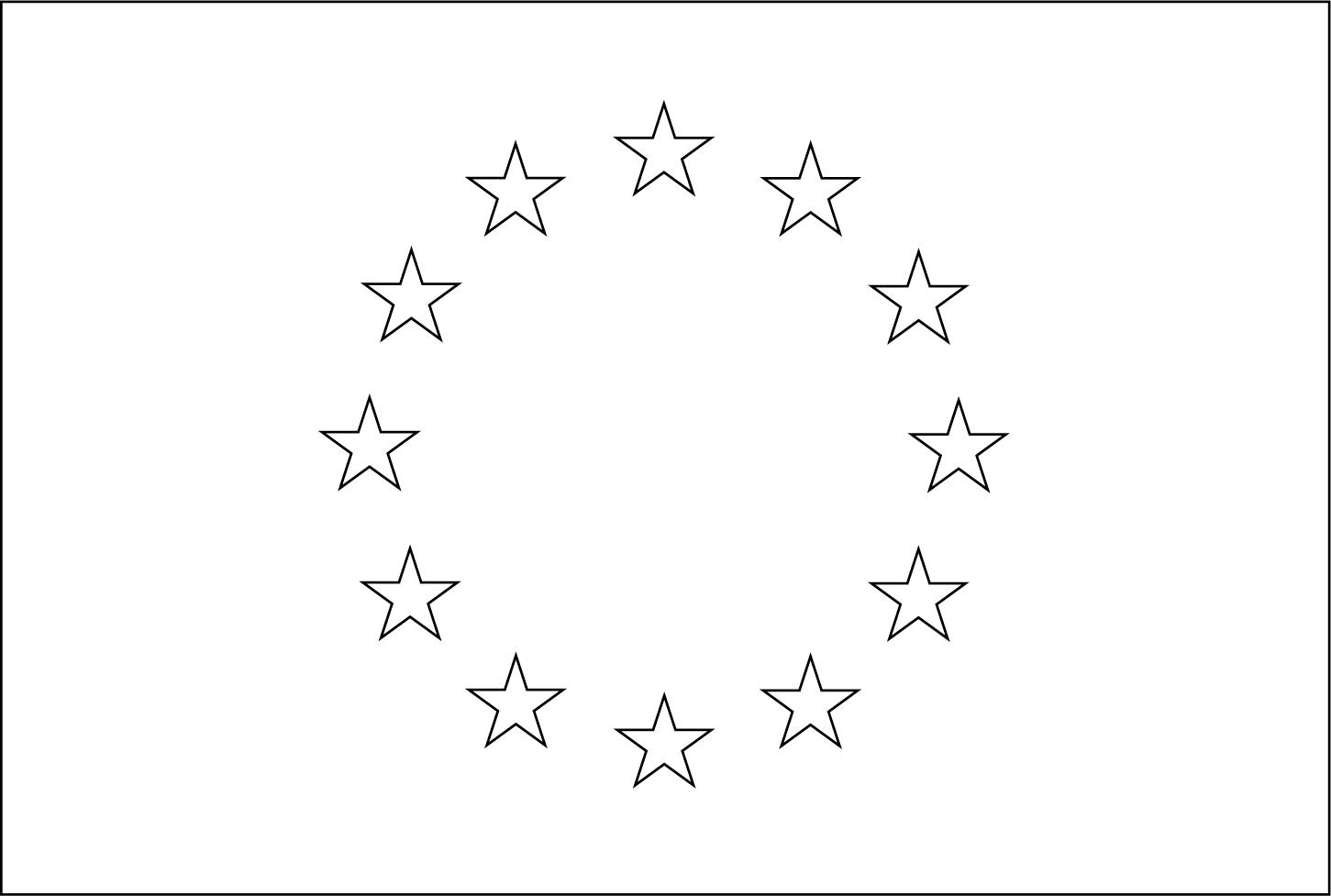 Bandeira da União Europeia para colorir