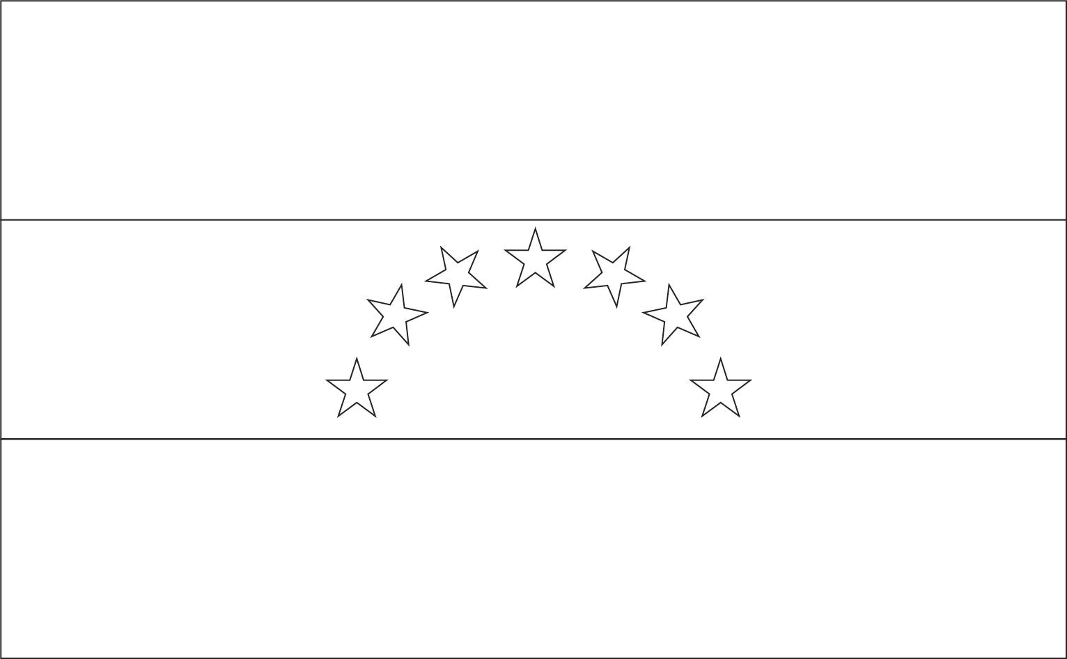 Bandeira da Venezuela para colorir