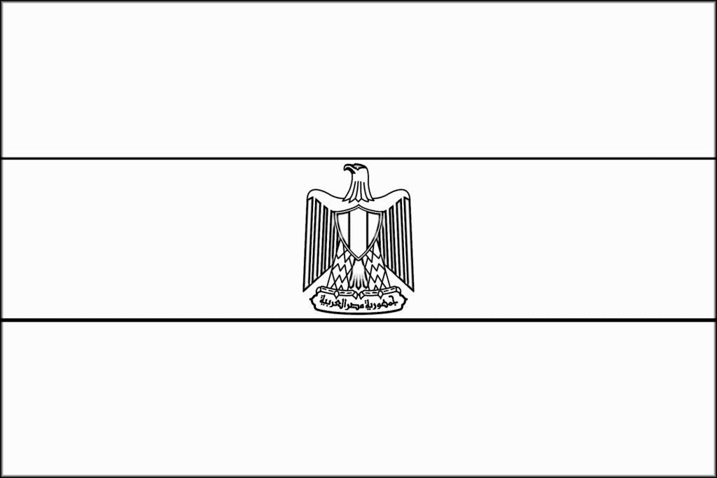 Bandeira do Egito para colorir