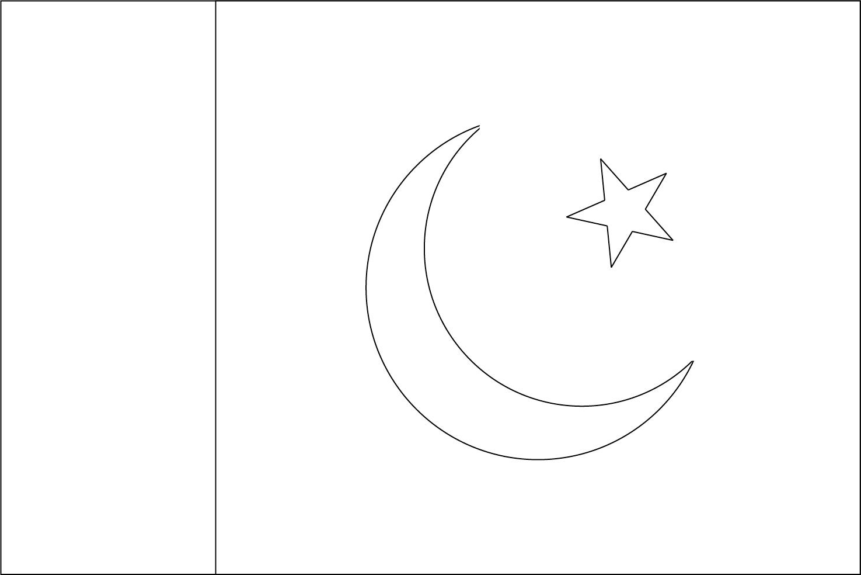 Bandeira do Paquistão para colorir