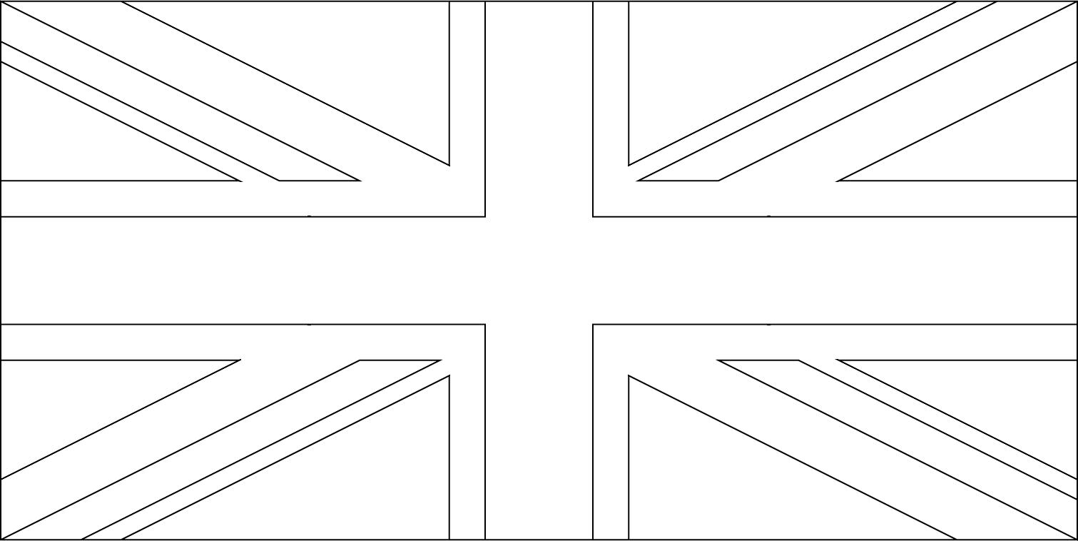 Bandeira do Reino Unido para colorir