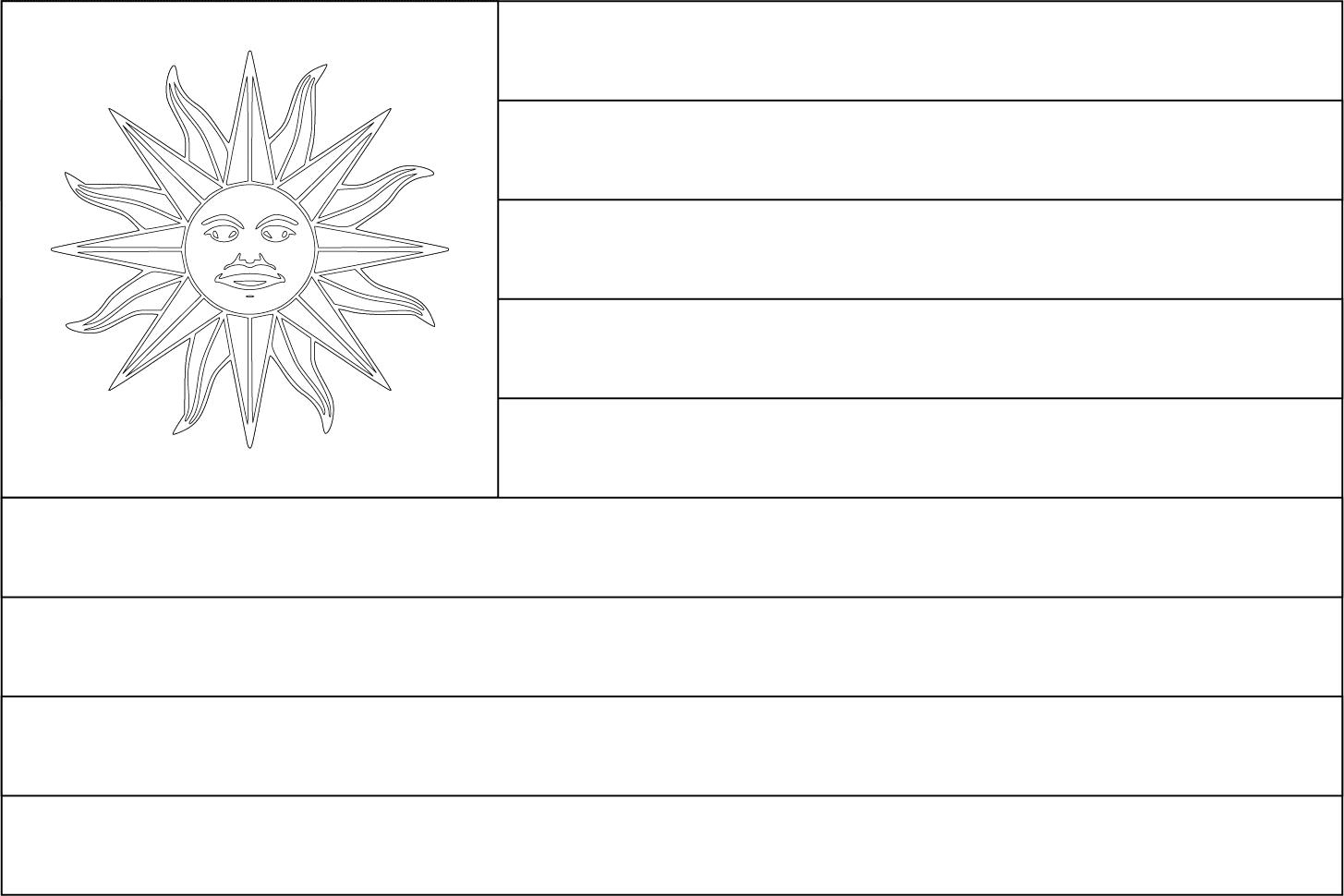Bandeira do Uruguai para colorir