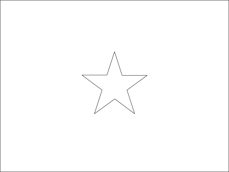 Bandeira do Vietnã para colorir