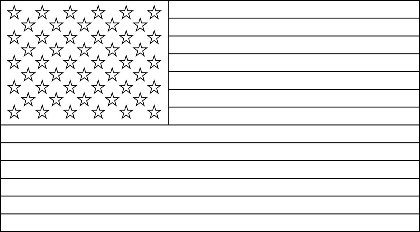 Bandeira dos Estados Unidos para colorir