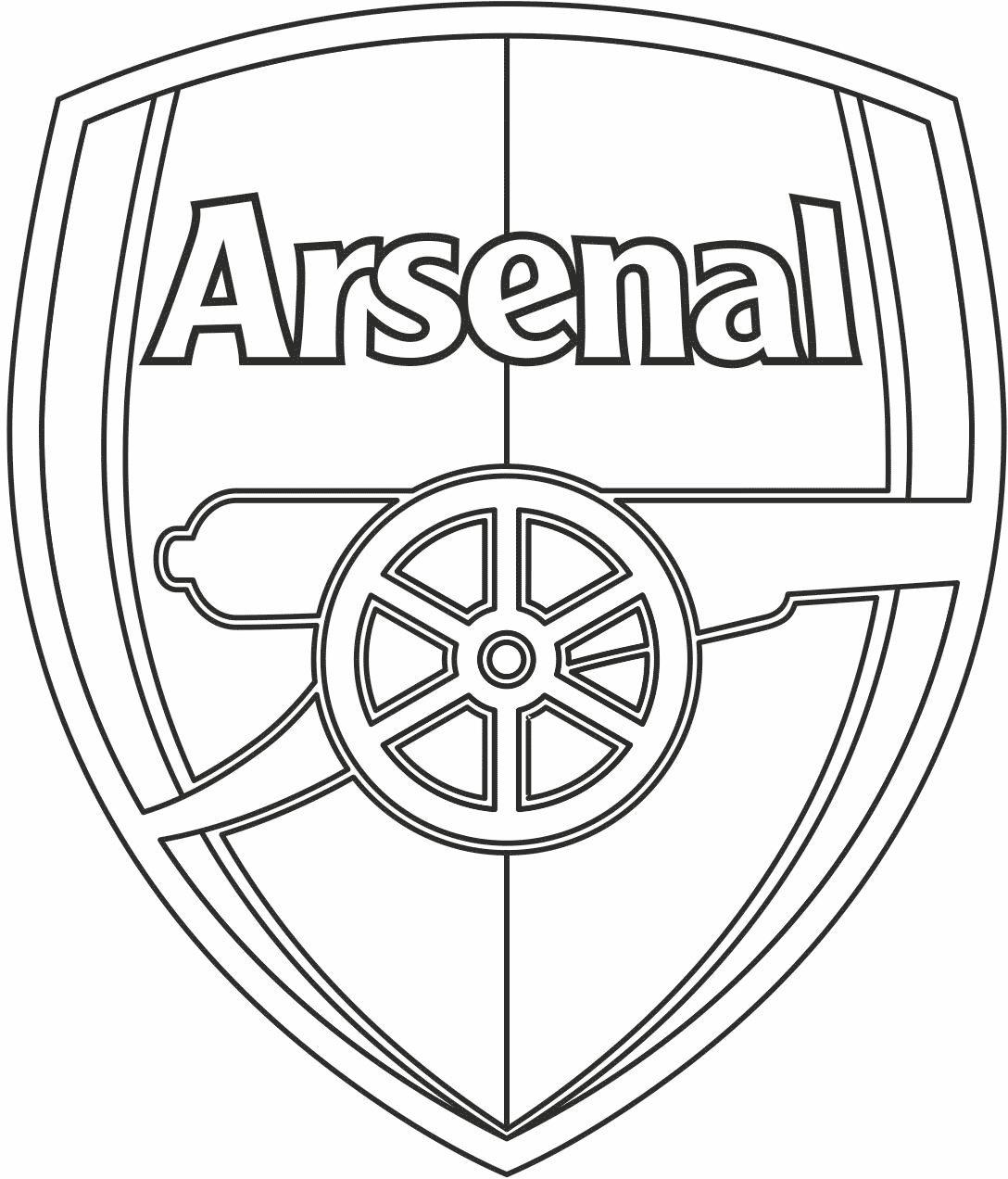 Símbolo do Arsenal para colorir