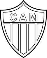 Símbolo do Atlético Mineiro para colorir