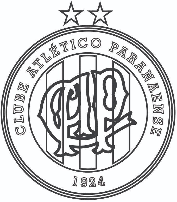 Símbolo do Atlético Paranaense para colorir