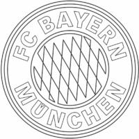 Símbolo do Bayern Munchen para colorir