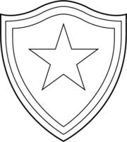 Símbolo do Botafogo para colorir