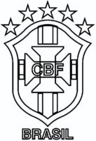 Símbolo da CBF para colorir