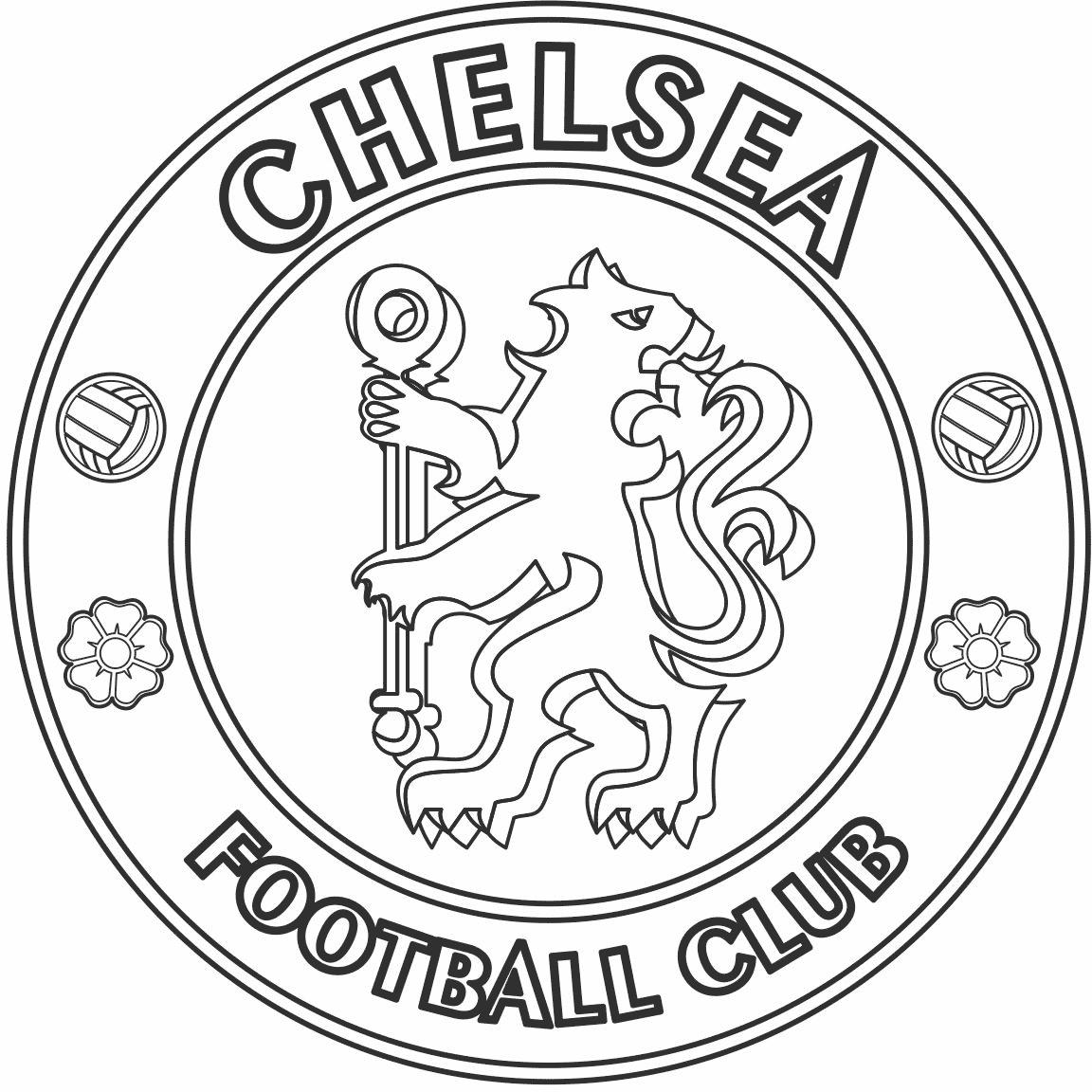 Símbolo do Chelsea para colorir