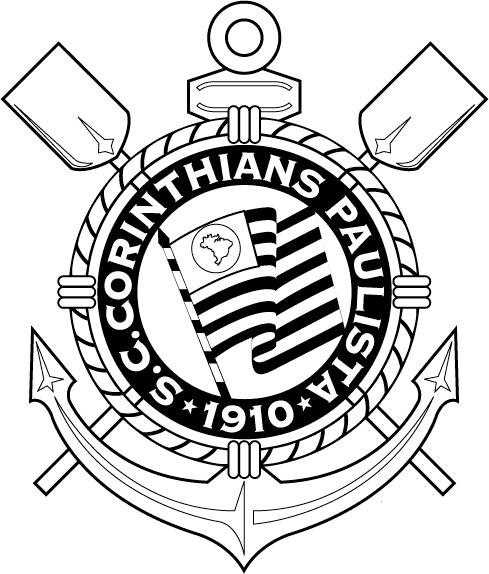 Símbolo do Corinthians para colorir