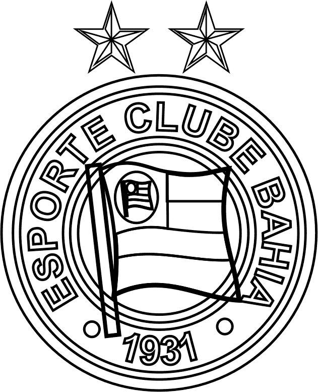 Símbolo do Esporte Clube Bahia para colorir
