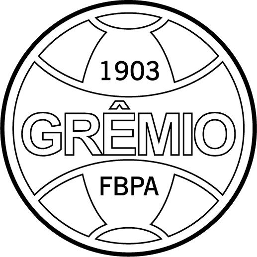 Símbolo do Grêmio para colorir