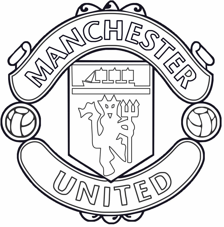Símbolo do Manchester United para colorir