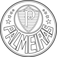Símbolo do Palmeiras para colorir