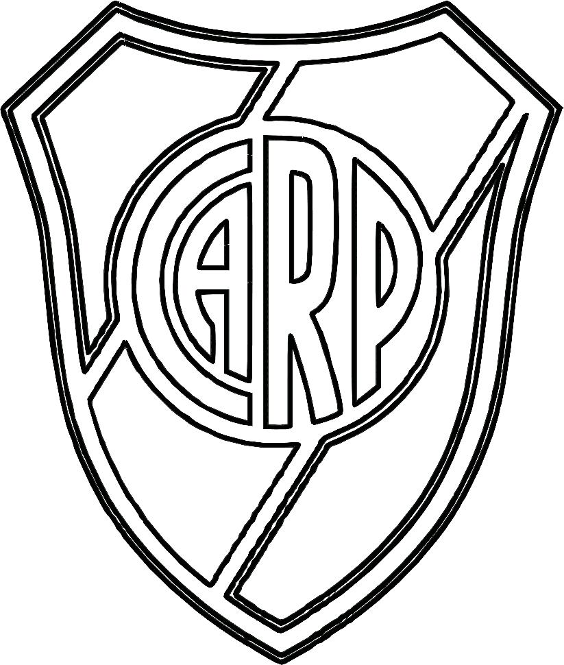 Símbolo do River Plate para colorir