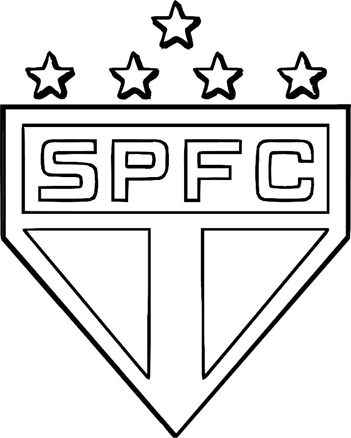 Símbolo do São Paulo para colorir