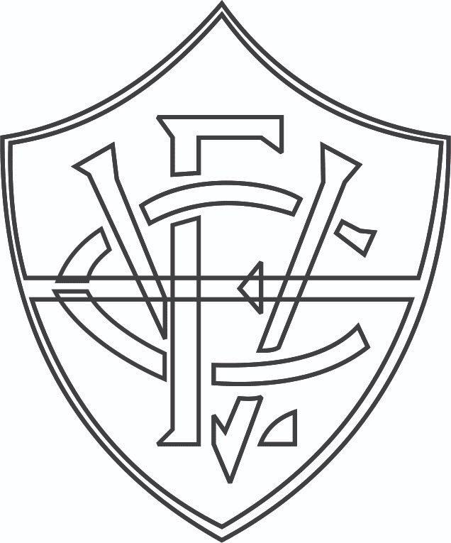 Símbolo do Vitória para colorir